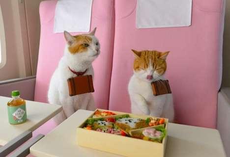 Frolicking Feline Tourism Ads