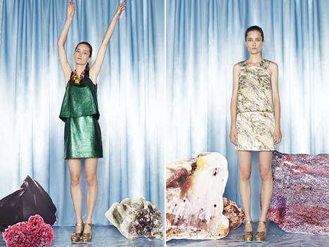 Metallic Mermaid-Inspired Fashions