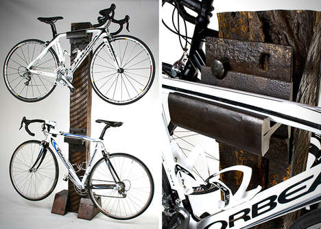 Rustic Lumber Bike Racks