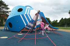 Extravagant Bug-Eyed Playgrounds - This New Creative Playground Will Blow Kids Away