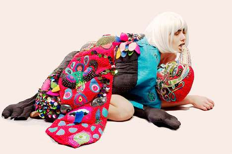 Eccentric Tapestry Fashion - Wearables by Elena Stonaker Are More Art Pieces Than Fashion