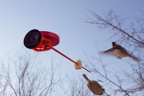 Roofless Branching Bird Feeders