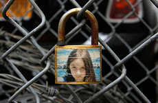 Captivating Padlock Photo Art - The Art Installations by Allan Molho Lock in Precious Photo Moments