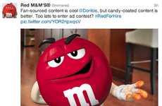 Job-Seeking Candy Campaigns - The Red M&M Hopes to Star in Another Brand's Super Bowl Commercial