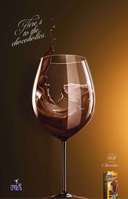Disguised Alcoholic Ads - The 'Chocoholics' Campaign Presents Chocolate Milk as Beer and Wine