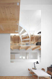 Winding Staircase Abodes - The 'Case House' in Sapporo is a Open-Concept Cozy Space