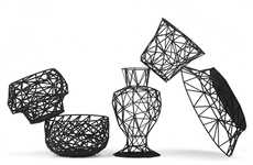 Geometrically Transparent Home Decor - The Dark Side Series Features 3D Printed Angular & Designs