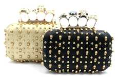 Rocking Skull Knuckleduster Purses - This Skull Purse Channels its Inner Rockstar with its Design