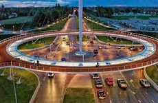 Suspended Bicycle Roundabouts