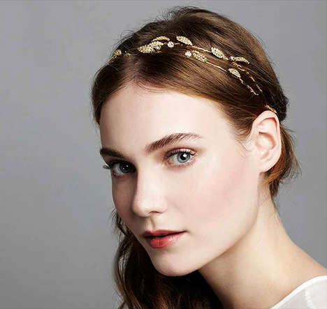 Romantically Whimsical Accessories - These Bohemian Hair Accessories by Jennifer Behr are Dazzling