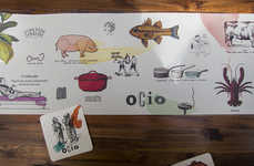 Eccentric Culinary Venue Branding - The Eclectic Branding Used for Ocio is a Kooky Culinary Trip