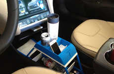 Uniquely Molded Cup-Holders - The Tesla Model S Will Feature Pearsonalized 3D Cup Holders