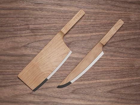 Sleek Wooden Blades