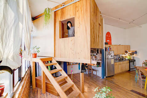 In-Home Tree Houses - This Brooklyn Artist Built a Full-Sized Tree House in Her Loft