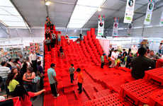 Recycled Crate Stadium Seating - BNKR Arquitetcura's Social Topography Installation is Dramatic