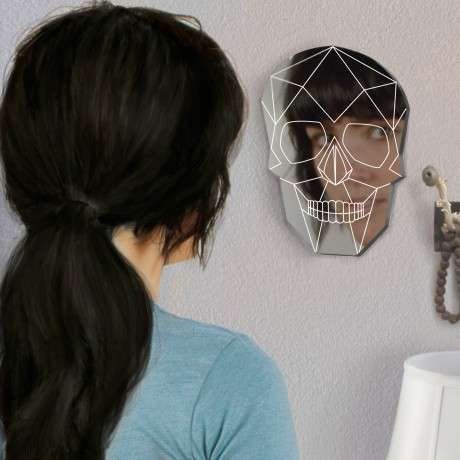 Transform Your Face with the Skull Wall Mirror