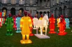 Illuminating Warrior Sculptures - The Lanterns of Terracotta Army Celebrates Chinese New Year