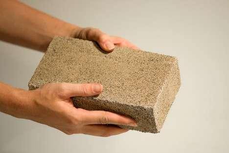 Bacteria-Grown Bricks
