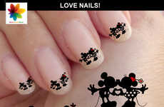 Romantic Disney Nails - This Disney Nail Art From Nailsgraphicworld is Perfect for Valentine's Day