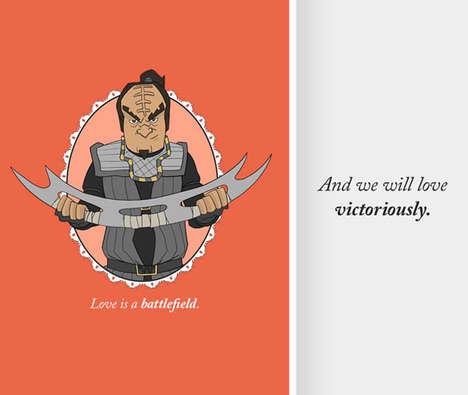 Space Villain Valentine's Cards