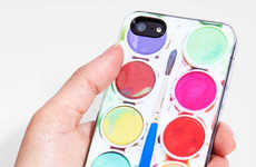 Paint Palette Phone Cases - The Zero Gravity Lil Picasso iPhone Case is Adobrable