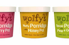 Paw-Printed Packages - Wolfy's Porridge Pots Have a Playfully Animalistic Personality and Image