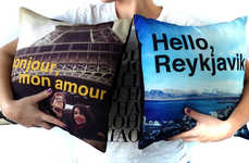 Customized Photo Cushions - Pillowords by Stitchtagram Introduces Text into the Comfy Mix
