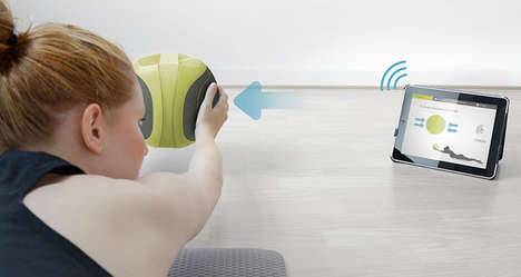 Tablet-Synced Exercise Equipment - The Pilar Ball Helps You Fine-Tune Your Physiotherapy Regime