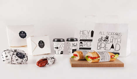 Handwritten Sandwich Branding - Embutique Packaging Expresses an Approachable and Personal Image