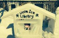 Free Ice Sculpture Libraries - This Free Ice Library Gives Out Books to Whoever Passes By