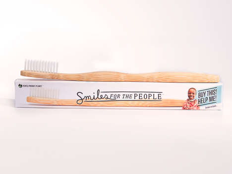 One-for-One Toothbrush Brands - Smiles for the People Delivers Oral Health Supplies to Those in Need