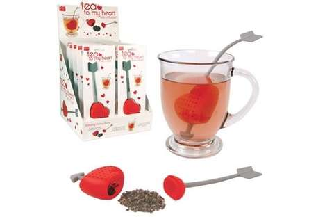 Heart-Themed Tea Mixers - The Tea to My Heart Tea Infuser Makes Sure Love is the Secret Ingredient