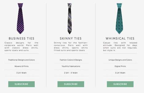 Monthly Necktie Subscriptions
