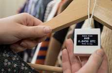Digital Price Tags - Self-Updating BitTag by Samuel Cox Shows Value of Goods in BitCoin