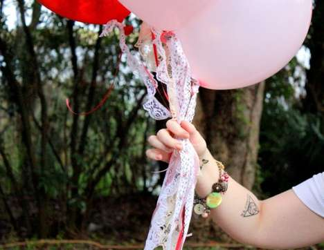 Lace-Accented Balloons - These Lovely Valentine's Day Balloons Will Offer a Heartfelt Gesture