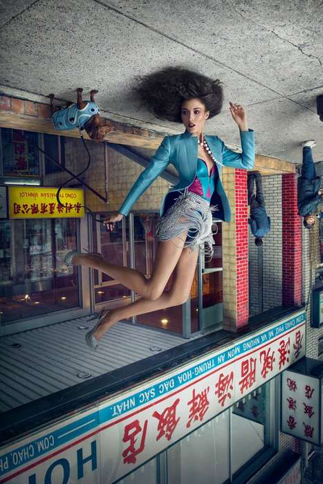 Upside-Down Chinatown Editorials - Photographer Martin Tremblay Stuns with Upside-Down Photos