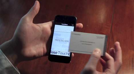 Tap Touchscreen Business Cards - Info on Touchbase Business Cards is Easily Transferred to Phones