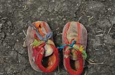 Refugee Footwear Photography - A Long Walk by Shannon Jensen Captures a Heart-Wrenching Reality