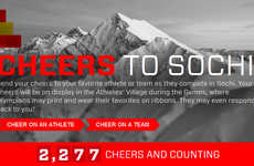 Athlete-Encouraging Social Campaigns - McDonald's Cheers to Sochi Site Connects Fans and Olympians