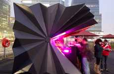 Opening Origami Pavilions