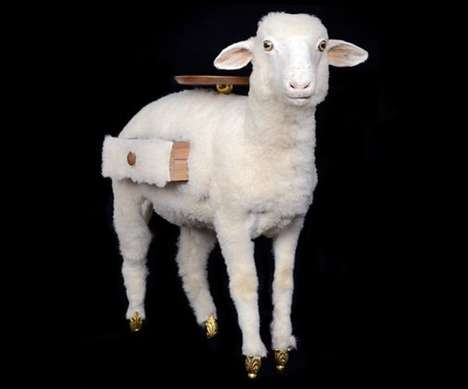 Taxidermy-Style Sheep Cabinets