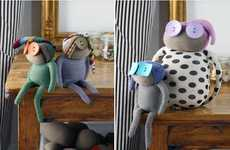 Sustainable Luxury Toys - These Upcycled Fabric Dolls are Charming and Artfully Crafted
