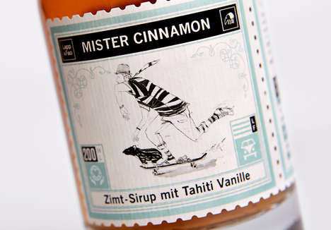 Vintage Jet-Setter Packaging - Take a Trip Round the World with This Illustration Branding Bottle