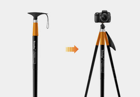 Trekking Photographer Canes - The Trinity Two-in-One is a Multitasking Tool for the Artistic Hiker