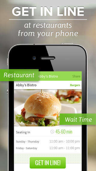 Virtual Restaurant Queue Apps - The NoWait App Makes Waiting for a Table Painless