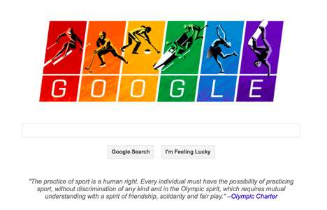 Social Justice Search Designs - The Olympic Google Doodle Takes Aim at Russian Anti-Gay Laws