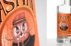 Vintage Owl-Inspired Packaging - East Van Vodka's New Label Branding is Quirky and Unique