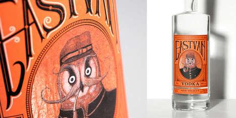 Vintage Owl-Inspired Packaging