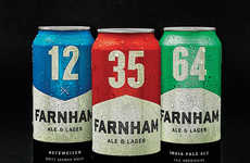 Railway-Inspired Lager Packaging - The Farnham Ale & Lager Brewery's Branding is Positively Macho