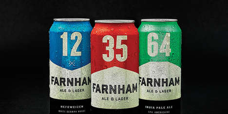 The Farnham Ale & Lager Brewery's Branding is Positively Macho